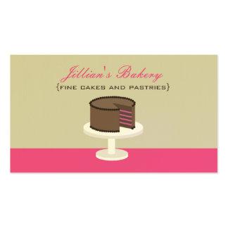 Cartão da padaria do bolo de camada do chocolate cartão de visita