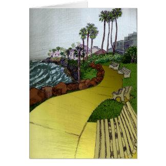 Cartão da paisagem da praia
