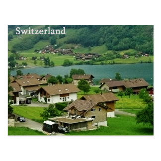 Cartão da paisagem da suiça