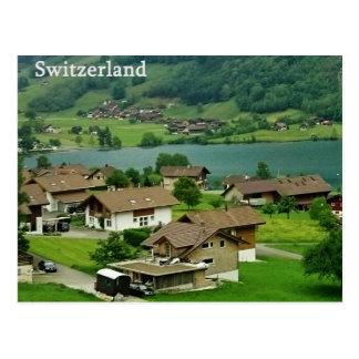 Cartão da paisagem da suiça cartão postal