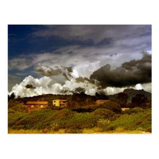 Cartão da paisagem de Córsega