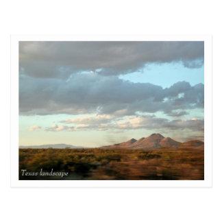Cartão da paisagem de Texas