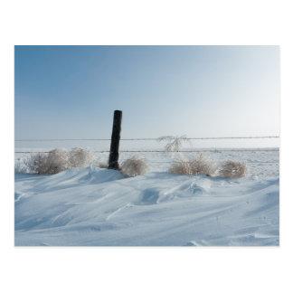 Cartão da paisagem do inverno