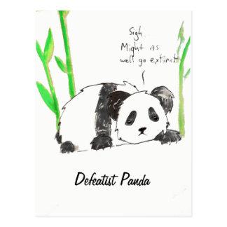 Cartão da panda da derrotista
