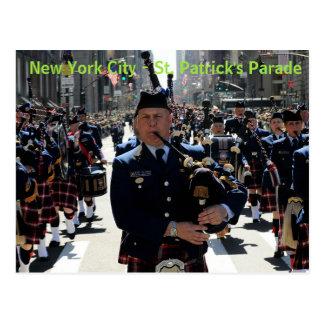 Cartão da parada de St Patrick da Nova Iorque