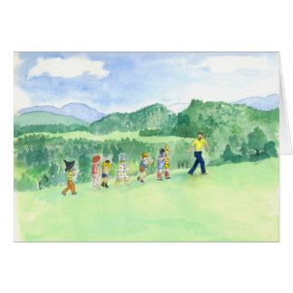 Cartão da parada dos miúdos