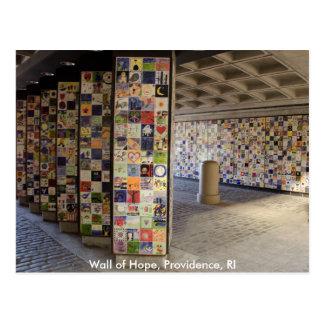 Cartão da parede da esperança no providência, RI