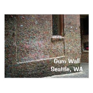 Cartão da parede da goma