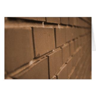 Cartão da parede de tijolo