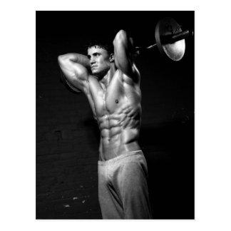 Cartão da parede do Gym do exercício do Bodybuilde Cartao Postal