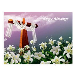 Cartão da páscoa Blessings.Customizable Cartao Postal
