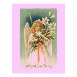 Cartão da páscoa do anjo do vintage