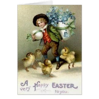 Cartão da páscoa do Victorian