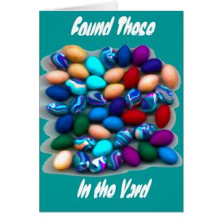 Cartão da páscoa dos ovos da páscoa