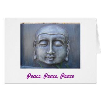 Cartão da paz de Buddha
