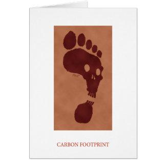 Cartão da pegada do carbono