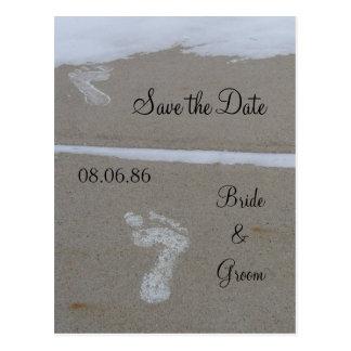 Cartão da pegada do casamento