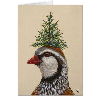 Cartão da perdiz do Natal