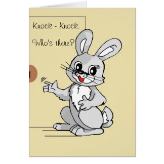 Cartão da piada da Batida-Batida do coelho dos