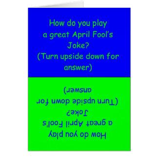Cartão da piada do dia do enganado engraçado