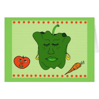 Cartão da pimenta e dos amigos