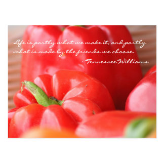 Cartão da pimenta vermelha