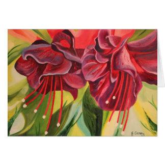 Cartão da pintura a óleo de Fuschia por Joanne
