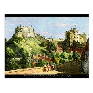 Cartão da pintura da aguarela do castelo de
