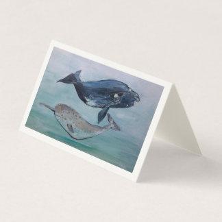 Cartão da pintura da baleia