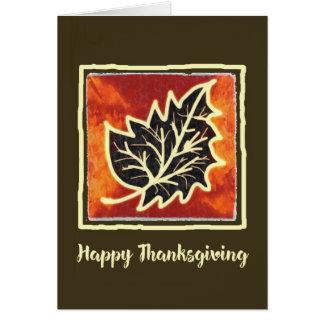 Cartão da pintura da folha do outono da acção de