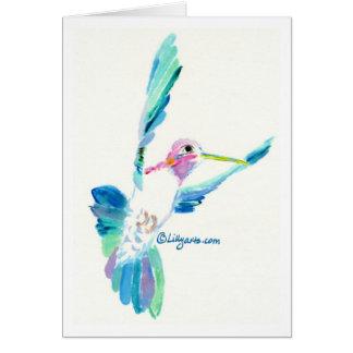 Cartão da pintura das belas artes do vôo do