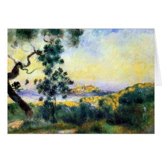 Cartão da pintura de paisagem de Antibes France