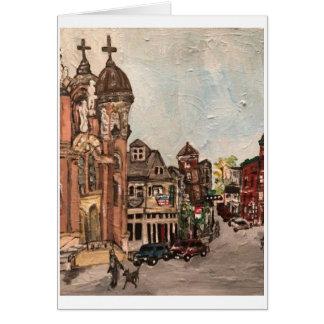 Cartão da pintura de pouca Italia, Cleveland