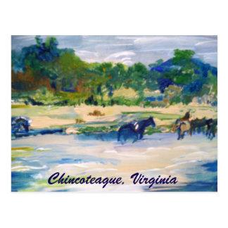 Cartão da pintura do cavalo da ilha de