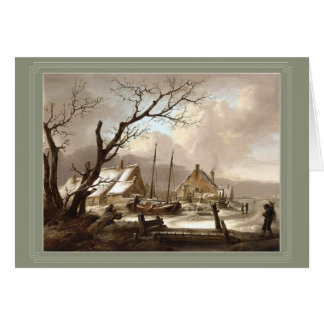 cartão da pintura do inverno