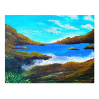 Cartão da pintura do oceano