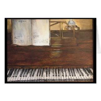 Cartão da pintura do piano por Willowcatdesigns