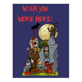 Cartão da pintura mural do horror