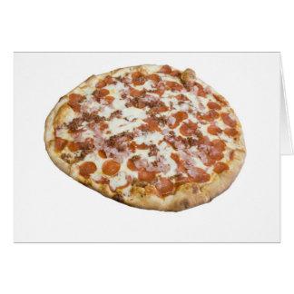 Cartão da pizza dos amantes da carne