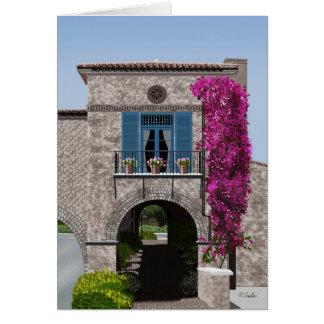 Cartão da plaza da angra de Malaga, vazio para