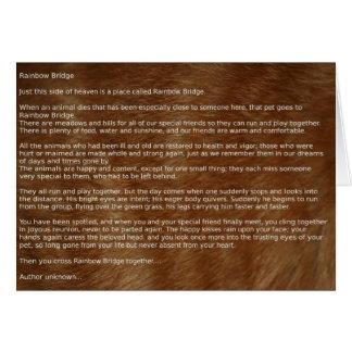 Cartão da poesia da simpatia do animal de estimaçã