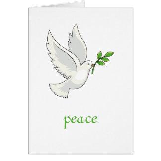Cartão da pomba da paz