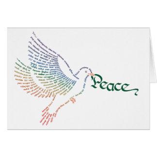 Cartão da pomba da paz de mundo