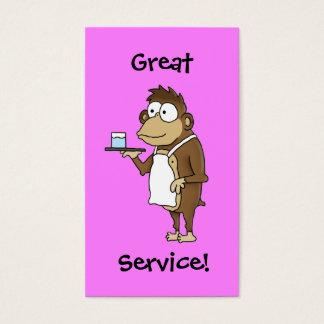 Cartão da ponta do servidor do restaurante