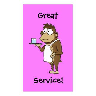 Cartão da ponta do servidor do restaurante cartão de visita