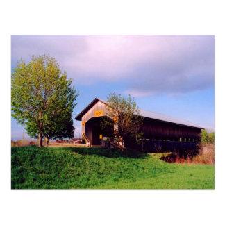 Cartão da ponte coberta da estrada de Cain