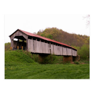 Cartão da ponte coberta de Knowlton