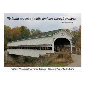 Cartão da ponte coberta de Westport