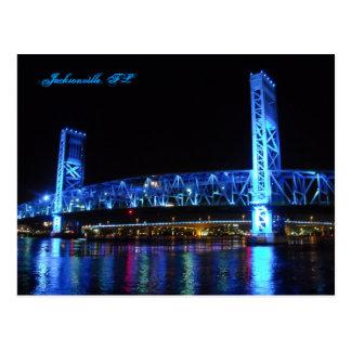 Cartão da ponte da rua principal de Jacksonville
