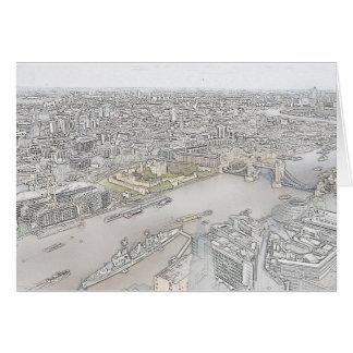 Cartão da ponte da torre